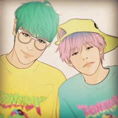 TO and G-Dragon fanart by Sanha (Instagram)