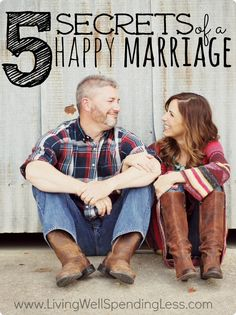 Real marriage can be hard.  If you've ever questioned whether all the messiness is really worth the effort,  you will not want to miss these 5 secrets of a happy marriage. A must read whether you've been married for 15 minutes or 15 years!