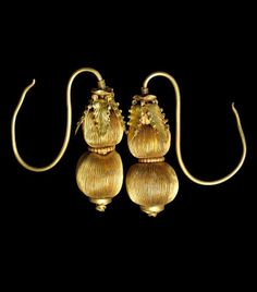 China | Gold Double-Gourd Shaped Earrings | Ming Dynasty, 16th century | Possibly, such earrings were commissioned for members of the Imperial family as weddings gifts with the wish for many sons. | Sold