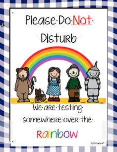 FREE TESTING SIGN- Wizard of Oz Theme! Totally Wirth It
