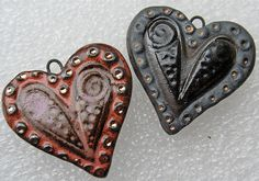 Chunky Stoneware Hearts by Lisa Peters Art, via Flickr
