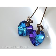 Swarovski Crystal Earrings ($23) ❤ liked on Polyvore featuring jewelry, earrings and crystalglowdesign