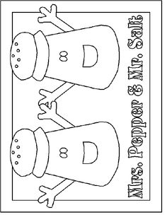 salt and pepper coloring page blues cluescoloring - Blues Clues Magenta Coloring Pages
