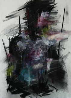 Oil, Painting untitled oil & charcoal on canvas x 50 2013 I see a distressed artist. Who holds colors . Charcoal Art, Charcoal Drawings, Sad Art, Amazing Paintings, Contemporary Abstract Art, Abstract Portrait, Arte Pop, Action Painting, Art Sketchbook