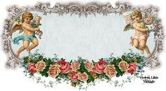 Violeta lilás Vintage: Template Marrom Antigo - Anjos e Rosas