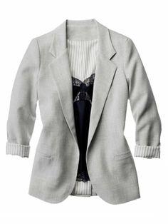 Business Casual Attire - Blazer and cami combo