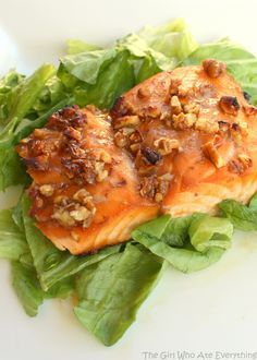 This is so easy and so good. We eat this salmon at least once every two weeks. Don't let the fact that this is a Weight Watchers recipe fool you, it's delish. Even my family, who aren't big fish eaters, love this meal. Honey and Pecan-Glazed Salmon   Print Ingredients ¼ cup honey 4 teaspoons finely chopped pecans …