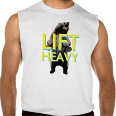 Grizzly Bear Lift Heavy Workout Sleeveless Shirts Tank Tops