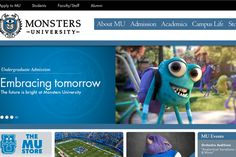 Pixar's Fake College Website Will Make You Want to Go There - The Atlantic College Website, University Website, Campus Map, New College, Leader In Me, Viral Marketing, Faculty And Staff, Monster University, College Admission