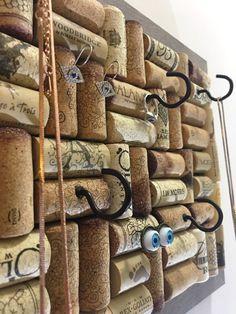 Stay organized with our wine cork boards! #winecorkboard #corkboard #bulletinboard #winecorkcrafts #winebar #upcycledgifts #upcycleddecor #jewleryorganizer #jewelrystorage #jewelrydisplay #collegedormdecor #etsyfinds #etsylove #madeinmaryland #wineloversbelike #winelovergifts #winestagram #winedecor #organizedlife #organizeyourspace #thewineingtwins Cork Board Jewelry, Wine Cork Jewelry, Metal Jewelry, Silver Jewelry, Jewellery Storage, Jewellery Display, Jewely Organizer, Key Organizer, Wine Cork Holder