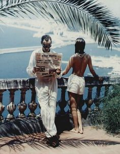 Photo by Helmut Newton, Nice, 1984.