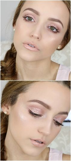 romantic soft pink makeup Kathleen Lights stunner perfect for valentines date . for teens night Pink Eye Makeup, Day Makeup, Doe Eye Makeup, Beauty Make-up, Hair Beauty, Mecca Makeup, Ball Make-up, Soft Make-up, Light Makeup Looks