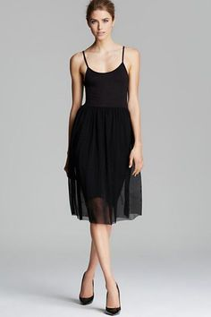 Aqua Tulle Jersey Dress, $58.50 (originally $78), available at Bloomingdale's.