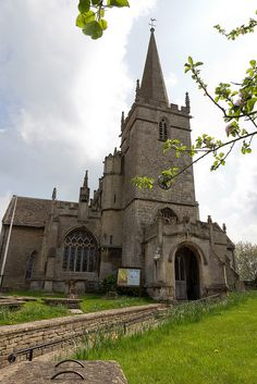 """""""St. Cyriac's Church"""" Of *East Church, Lacock, Wiltshire, England*  