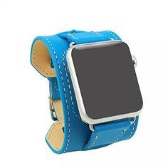 Leather band For Apple Watch Handmade Genuine Leather Watch Band Strap 38mm 42mm for Watch Wrist Watchand Long Bracelet Loop DMYY http://www.amazon.co.uk/dp/B01AW4GPXO/ref=cm_sw_r_pi_dp_X667wb0G1NJ84
