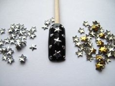 Nail Art 250 Pieces Gold & Silver 5mm Star Metal Studs for Nails, Cellphones - http://womensfragrancesperfumes.com/beauty/nail-art-250-pieces-gold-silver-5mm-star-metal-studs-for-nails-cellphones-com/