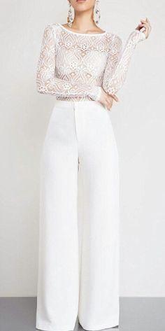 White mesh lace bodysuit
