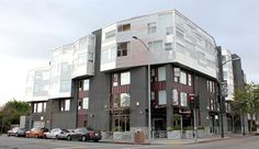 Mixed Use Building. Retail on bottom floors and residential on top floors. San Francisco. Studio J Architecture