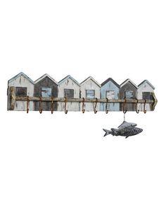 Wood Beach House Wall Hook Hanger #zulily #zulilyfinds