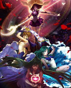 Sailor Moon Sailor Stars, Sailor Moon Manga, Sailor Pluto, Sailor Neptune, Sailor Jupiter, Sailor Moon Crystal, Arte Sailor Moon, Sailor Moon Fan Art, Sailor Scouts