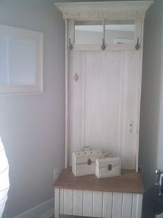 From and old door:  bench Hall Tree