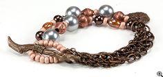 Jewelry Making Idea: Fallen Twig Vintage Bracelet (eebeads.com)