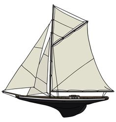 The vintage wooden sailing yacht Outdoor Gear, Tent, Sailing, Objects, Cartoon, Ship, Retro, Vintage, Candle