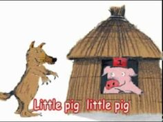 This is the full story of the three little pigs. The magic in this story is the pigs creating house with actual tools and also the wolf coming and trying to blow the houses down. Also the magic in this is all the animals are standing on two legs and moving which none do in real life.