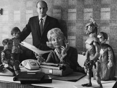 Gerry Anderson creator of Thunderbirds and numerous other Supermarionation series & wife Sylvia Science Fiction, Joe 90, Broadcast News, Thunderbirds Are Go, Master Of Puppets, Art And Hobby, Celebrity Deaths, Thanks For The Memories, Animation