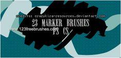 Marker Strokes - Download  Photoshop brush http://www.123freebrushes.com/marker-strokes/ , Published in #GrungeSplatter. More Free Grunge & Splatter Brushes, http://www.123freebrushes.com/free-brushes/grunge-splatter/ | #123freebrushes