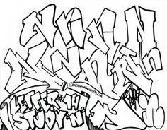 Graffiti Letter N