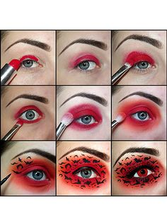 kiki makeup halloween inspired eyes with lensway contact lenses -cosmopolitan uk