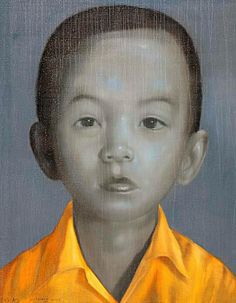 """Boy in Yellow Shirt"" by Attasit Pokpong Oil on Canvas Yellow Shirts, Online Gallery, Limited Edition Prints, Oil On Canvas, Giclee Print, Original Artwork, Contemporary Art, Hand Painted, Painting"