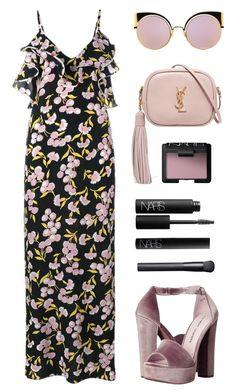 """Pretty in Pink"" by baludna ❤ liked on Polyvore featuring Marni, Chinese Laundry, Yves Saint Laurent, Fendi and NARS Cosmetics"