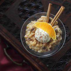Rice Pudding with orange liquor