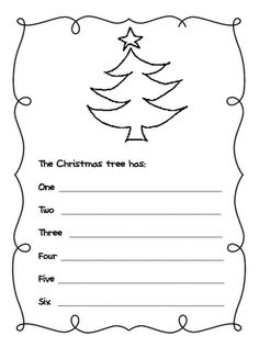 Printable Christmas themed lined writing paper  Winter  its