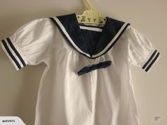 Childrens H & M Dept Sailor Suit All in One for sale on Trade Me, New Zealand's auction and classifieds website Sailor Collar, Baby Gear, All In One, Suits, Clothes, Tops, Fashion, Outfits, Moda
