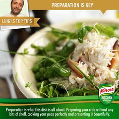 Want something different for dinner? Why not use our vegetable 'Touch of Taste' to create this Crab and Pea salad? http://www.knorr.co.uk/Recipes/Fish-Recipe/Fresh-Crab-and-Pea-Salad.aspx