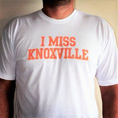 I MISS KNOXVILLE tee by I MISS MY COLLEGE. Pay homage to the iconic college towns that helped shape our young collegiate minds. www.imissmycollege.com