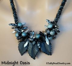 Midnight Oasis Necklace KIT - Sally Bead Jewelry