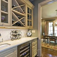 kitchens - Wet bar, built in wine rack for my future kitchen! ***must have***