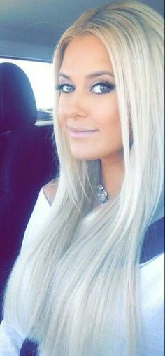 long platinum / white blonde hair | Long hair | Pinterest | White ...