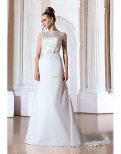 Cowl Sashes/Ribbons Zipper Wedding Dresses 2014