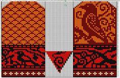 Crochet Mittens Free Pattern, Tapestry Crochet Patterns, Knit Mittens, Knitted Gloves, Knitting Socks, Knitting Charts, Knitting Patterns, Knit Art, Knit Dishcloth
