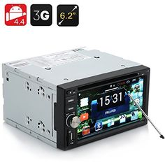 2 DIN Car DVD Player 'Panthera' - 6.2 Inch Display, 800x480 RGB, Android 4.4 OS, 3G, Wi-Fi, GPS, Bluetooth , http://www.amazon.es/dp/B00TFWB26A/ref=cm_sw_r_pi_dp_GAHivb1N5T80T
