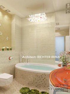 Дизайн-проект интерьера квартиры в стиле жилого минимализма. Архитектор Рихтер Ирина  INSIDE-STUDIO Prague Corner Bathtub, Alcove, Bathroom, Washroom, Full Bath, Bath, Bathrooms, Corner Tub