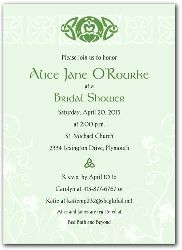 f887ddbaec1e I am also drawn to the pale green of this claddagh and celtic bridal shower  invite