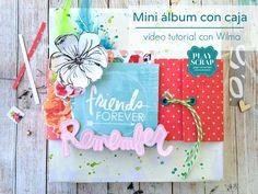 Hoy en nuestro blog Wilma de nuestro DT te enseña con un video tutorial como hacer un packing para un mini álbum especial con September Skies de Heidi Swapp