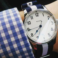 "Our most popular Nato Strap, ""The Boss."" #Sydney #thesydneystrapco #womw #instawatches #watchesstraya #watchesofinstagram #wristporn #watchgeek #watchnerd #watchporn #natonation #natostraps #natostrap #watches #wornandwound #ablogtowatch #watchuseek #freeshipping #horology #sydneystyle #timeandtide #stowa @Stowa @timeandtide @wornandwound @ablogtowatch"