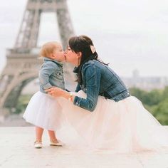 Paris, mother daughter photoshoot, toddler style, Space 46 tulle, tulle skirt, feminine fashion